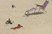 giant sunlounger on beach. Australia