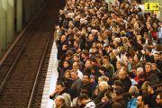 crowd on train platform