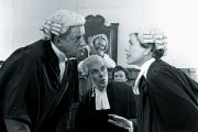 lawyers and judges arguing