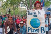 There is no Planet B climate change protester