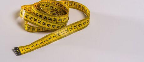 Crumpled tape measure