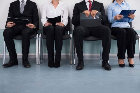 Business people waiting to attend job interview
