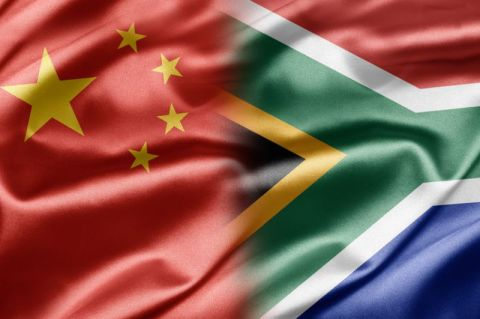 China / South Africa flag