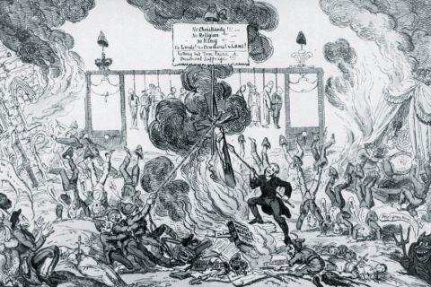 George Cruikshank cartoon, The Age of Reason