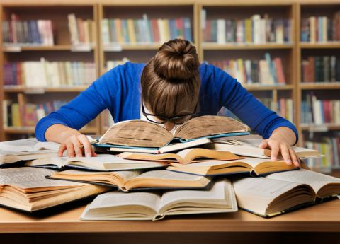 Reading, studying, student