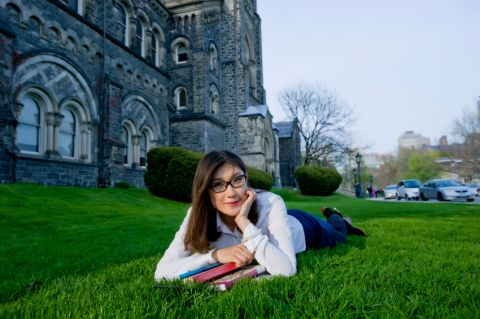 Student outside UofT