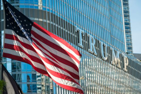 Donald Trump, US flag