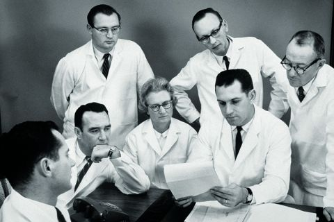 Woman outnumbered by male scientists