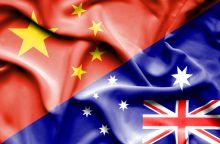 China, Australia flags
