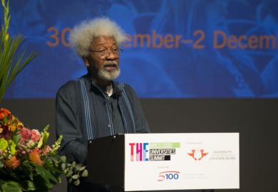 Wole Soyinka speaking at THE BRICS & Emerging Economies Universties Summit