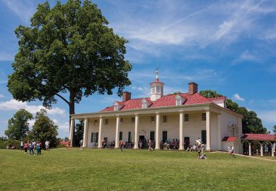 Mount Vernon plantation home of George Washington