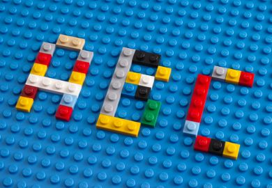 ABC spelled in Lego bricks