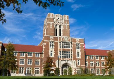 Administration building at the University of Tennessee in Knoxville, Tennessee.
