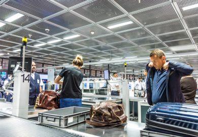 Airport security at Frankfurt airport