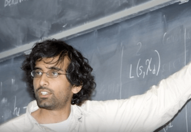 Akshay Venkatesh as a PhD student at Princeton. Picture: Australian Academy of Science.