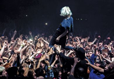 Alice Glass, Crystal Castles, crowd surfing at O2 Academy, Brixton