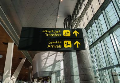 Arabic airport signs