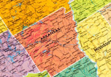 Arkansas, map, US, state