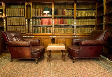Armchairs in library