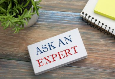 Ask an expert. Business card with message, notepad and flowers