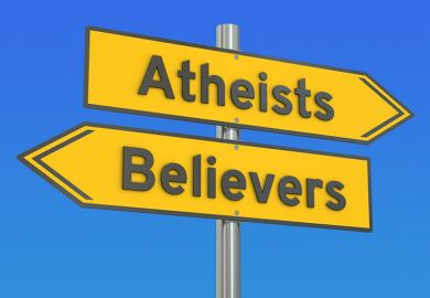 Atheists believers sign