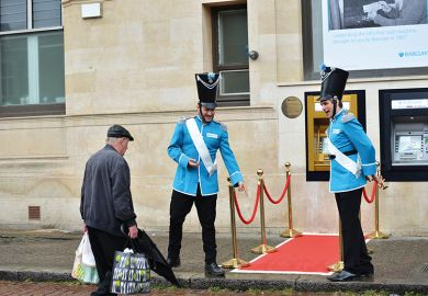 The 50th anniversary of the world's first ATM is celebrated at Barclays Bank on June 27, 2017 in Enfield, England
