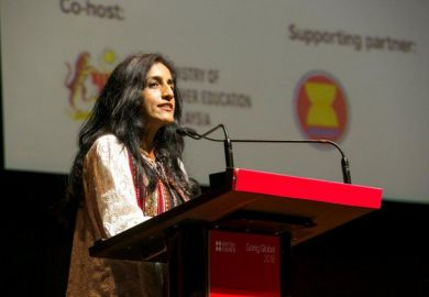 Ayesha Khanna speaks at Going Global 2018
