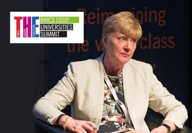 Bairbre Redmond speaking at THE BRICS & Emerging Economies Universties Summit