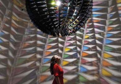 Cold Wind Sphere, by Icelandic/Danish artist Olafur Eliasson, Tate Modern, London.