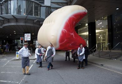 Giant inflatable piece of meat
