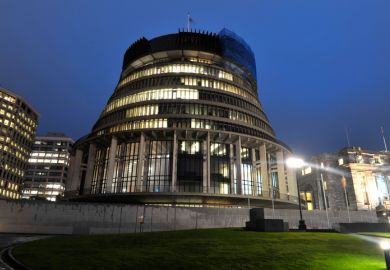 Beehive New Zealand parliament Wellington