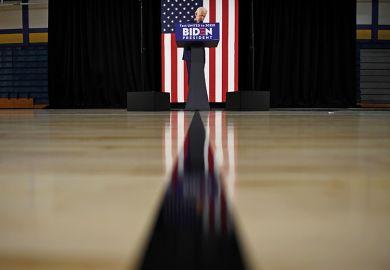 Joe Biden at a lectern