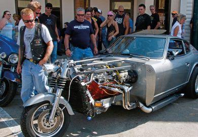 Hybrid motorcycle car