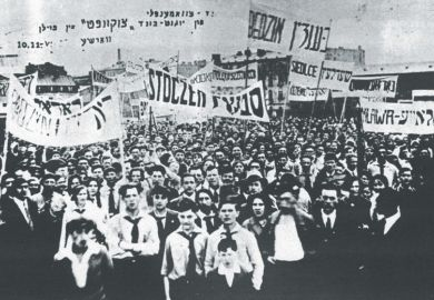 Black and white photograph of Bundist Youth Organization