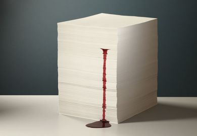 Bleeding stack of paper
