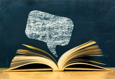 Book review speech bubble illustration
