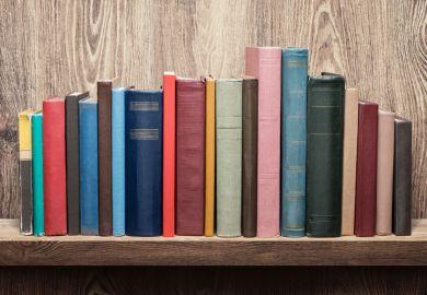 Books on bookshelf