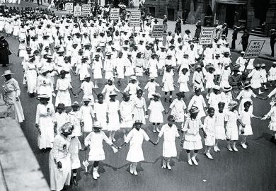 A silent protest parade in 1917 against race prejudice