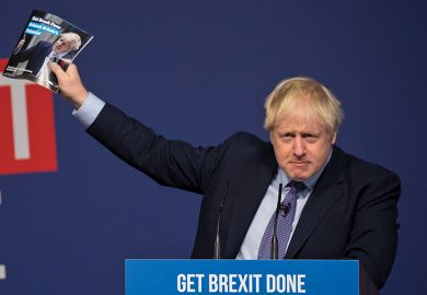 Boris Johnson at Conservatives' manifesto launch