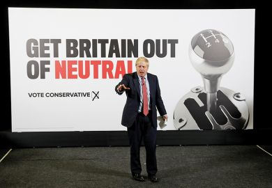 British Prime minister Boris Johnson launches a general campaign poster, 2019