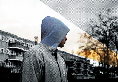 A boy wearing a hoodie