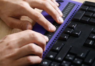 Braille computer display