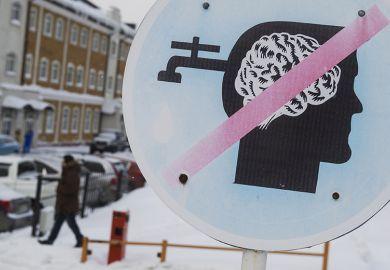 Brain drain sign