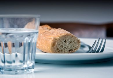 Bread and water served as meal