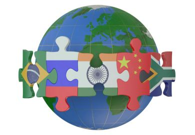BRICS & Emerging Economies countries concept illustration