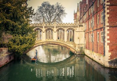 Bridge of Sighs at St John's College, Cambridge