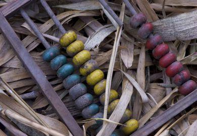 A broken abacus