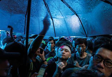 Umbrella protesters in Hong Kong