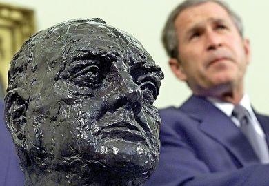 Bush with Churchill head