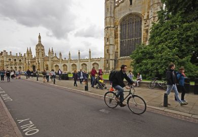 Cyclists in Cambridge